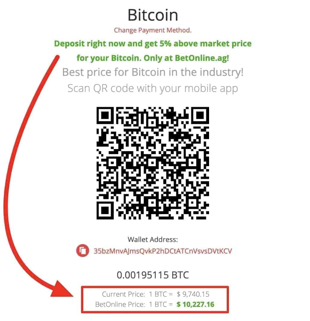 BetOnline deposit 5 percent more dollars than market price 1032x1068 1